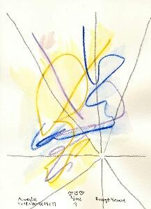 Akvarell 'You 4' av Bengt Tomas