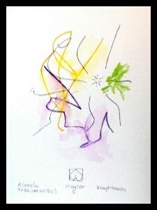 Akvarell 'Mentor 5'