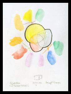 Akvarell 'Kosmos 1'