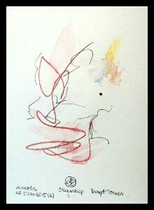 Akvarell 'Okunskap 1'