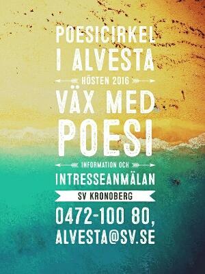 affisch med information om poesikurs