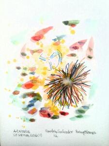 Akvarell 'Poeten Salvador 12'