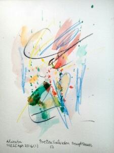 Akvarell 'Poeten Salvador 13' av Bengt Tomas