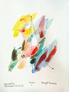 Akvarell Han 1