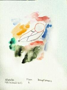 Akvarell Plan 2 av Bengt Tomas
