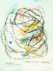 Akvarell 'Poeten Salvador 1'