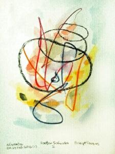 Akvarell Poeten Salvador 2