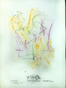 Akvarell 'Development 4' av Bengt Tomas