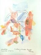 Akvarell 'Poeten Salvador 7' av Bengt Tomas