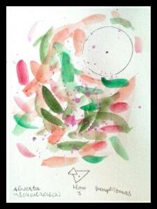Akvarell Hon 3 av Bengt Tomas