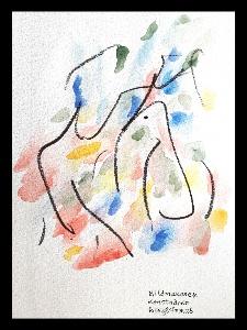 Akvarell MUSIK Linda Pettersson 2