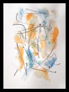 Akvarell PERSON Du 2