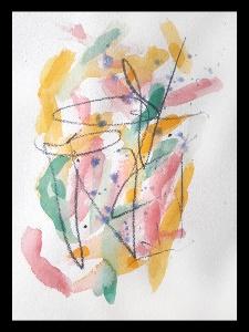 Akvarell PERSON Du 3