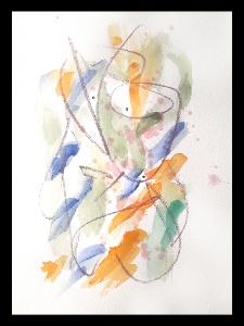 Akvarell PERSON Du 4