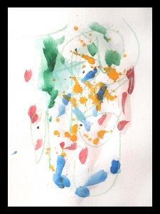 Akvarell PERSON Du 5