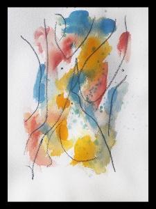 Akvarell PERSON Du 7