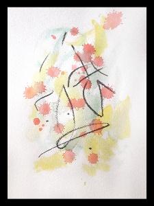 Akvarell PERSON Själv 3