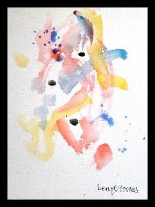 Akvarell Ballad och blues