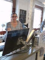 Lånedisken på Alvesta bibliotek
